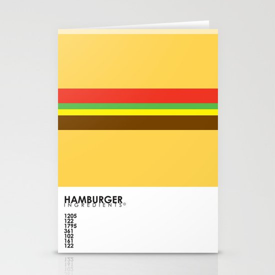 Pantone Food - Hamburger Stationery Cards