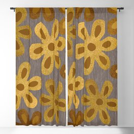 Vintage Wildflower Print Blackout Curtain