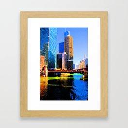 Clark St. Bridge, Chicago (Pop) Framed Art Print