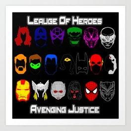 Avenging Justicee Art Print