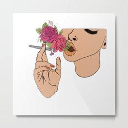 Floral Emission Metal Print