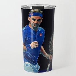 Tennis legend Roger Federer Travel Mug