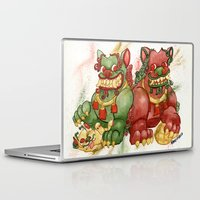 foo fighters Laptop & iPad Skins featuring Happy Happy Foo Foo by JoJo Seames