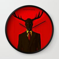 hannibal Wall Clocks featuring Hannibal by Mastodon