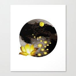 Vietnam Flower Lanterns Hoai River Hoi An ancient town Canvas Print