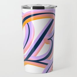 Vintage Feel. Colourful and Playful Letters B Travel Mug