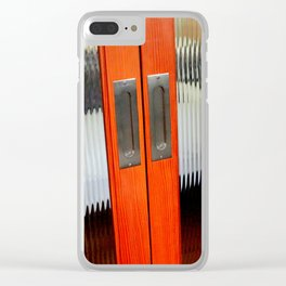 Ribbed Glass Doors - A Half Made Bed Clear iPhone Case