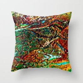 Emerald Impressions Abstract Throw Pillow