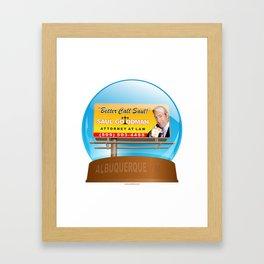 Better Call Saul! Framed Art Print