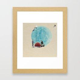 MTL design city Framed Art Print