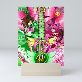 Sailor Mew Guitar #36 - Sailor Jupiter & Mew Ichigo Mini Art Print