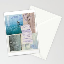 just can't let go Stationery Cards