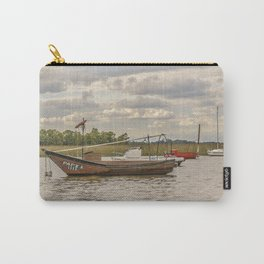 Fishing and Sailboats at Santa Lucia River in Montevideo, Uruguay Carry-All Pouch
