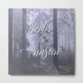 Explore the unseen mystic misty woods adventure Metal Print