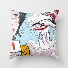 Leaving Earth Throw Pillow