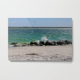 Teal Rapture Metal Print