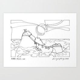 夫婦岩 Meoto-iwa Art Print