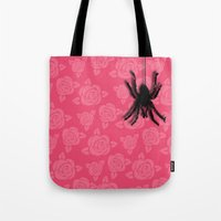 spider Tote Bags featuring Spider by Mr and Mrs Quirynen