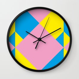 Cool polygons, and squares, and things that looks 3d but they aren't, and tiny mistakes in R corner. Wall Clock