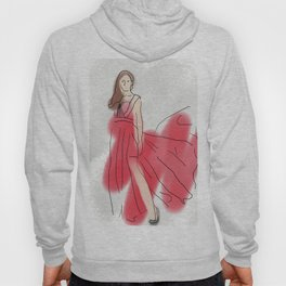 Red Spotty Dotty Dress Hoody