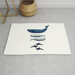 Whale Counting 123  Rug