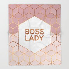 Boss Lady / 2 Throw Blanket