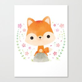 Japanese red fox Canvas Print