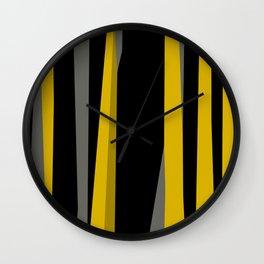 yellow gray and black Wall Clock