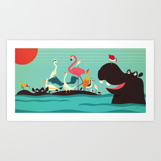 """Hey Mom! Check it out!"" Art Print"
