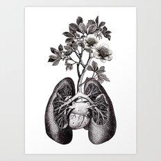 Flourishing Lungs Art Print