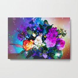 Disco Bouquet I Metal Print