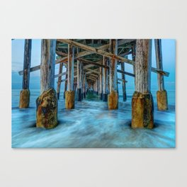 Long Exposure Under Newport Pier Canvas Print