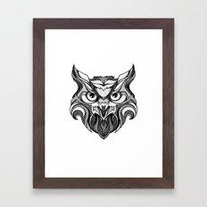 Owl - Drawing Framed Art Print