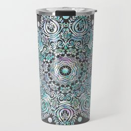Mermaid Mandala on Deep Gray Travel Mug