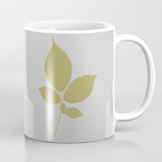 Vert et feuille d'or Mug