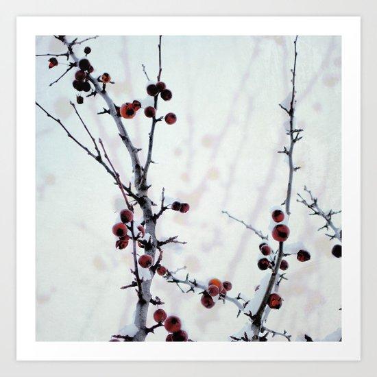 Red Freeze Art Print