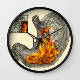 Fire In My Belly Wall Clock