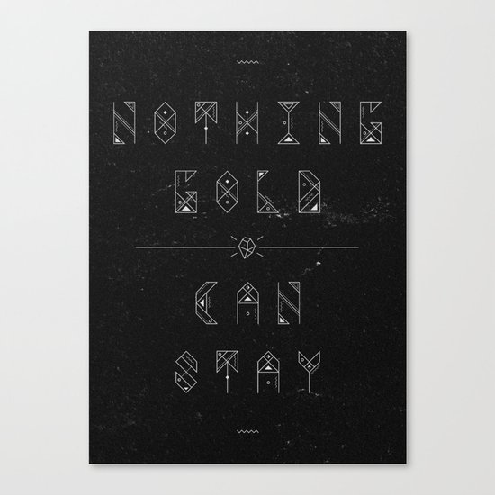 NOTHING GOLD Canvas Print
