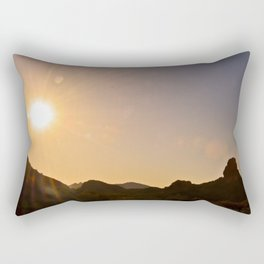 Sunset on the Apache Trail Rectangular Pillow
