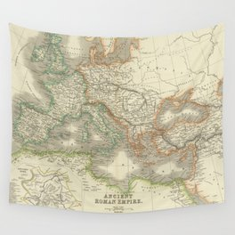 Vintage Map of The Roman Empire (1844) Wall Tapestry