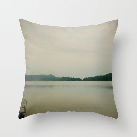 Herring Lake Dock Throw Pillow