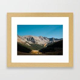 Rocky Mountain Glory Framed Art Print