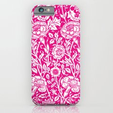 """William Morris Floral Pattern   """"Pink and Rose"""" in Hot Pink and White iPhone 6s Slim Case"""