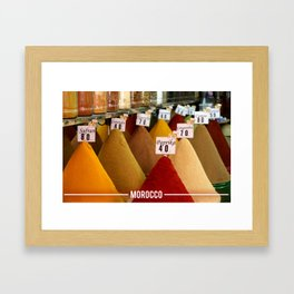 Moroccan Spices, Essential Spices in Moroccan Cooking Framed Art Print