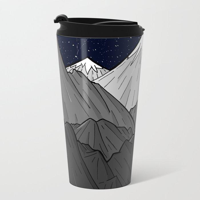 The Dark Grey Mountains Metal Travel Mug