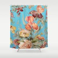 andreas preis Shower Curtains featuring shabby daze by Ariadne