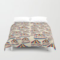 carousel Duvet Covers featuring Carousel by lindseyclare