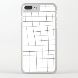 MINIMAL GRID Clear iPhone Case