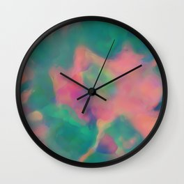 Pink and Green Dream Wall Clock