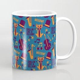 Cool Cat Pattern by Holly Shropshire Coffee Mug